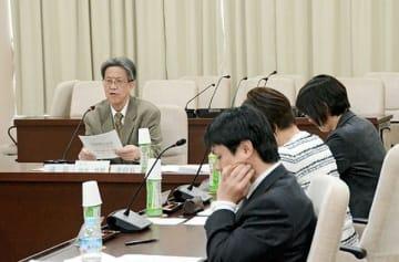熊本地震関連の公文書を10年間廃棄しないよう求める報告書をまとめた有識者の検討委員会=熊本市議会棟