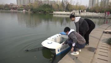 25キロのゴミを「呑み込める」無人清掃船を開発 陝西省