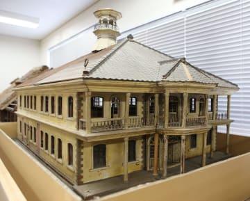 宮城県会議事堂の建築模型