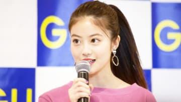 「GU渋谷店」のオープニングイベントに登場した今田美桜さん