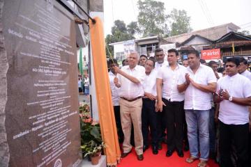中国企業、スリランカで道路改善事業の竣工式