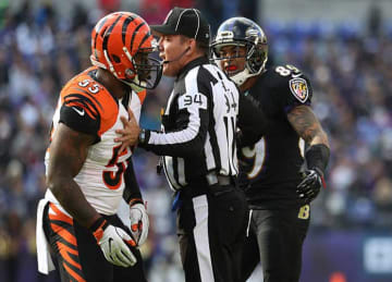 Bengals Vontaze Burfict Draws Penalty After Contact with Ravens' Steve Smith