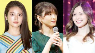 (左から)今田美桜さん、新垣結衣さん、白石麻衣さん