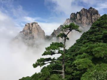 黄山最高峰の蓮花峰、5年ぶりに一般公開 安徽省