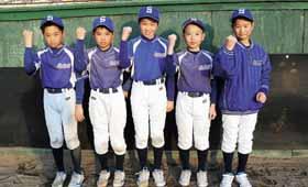 沖縄大会に出場する工藤大、工藤希、冨沢、児玉、岡崎の5選手(左から)