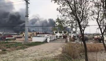 江蘇省の化学工場爆発事故で6人死亡、30人重傷