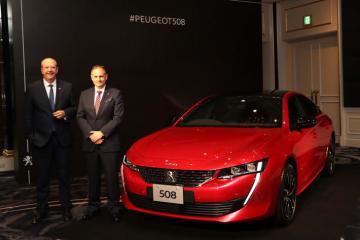 プジョー 新型508発表会 左:プジョーブランドCEO ジャン=フィリップ・アンパラト氏