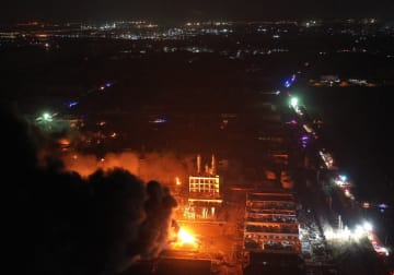 江蘇省の化学工場爆発事故 31人救出