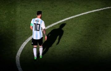 アルゼンチン代表を離れていたメッシ photo/Getty Images