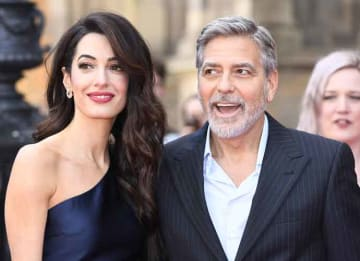 George & Amal Clooney Honored At People's Postcode Lottery Gala In Scotland