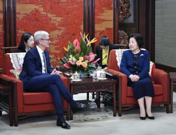 孫春蘭副総理、クック米アップルCEOと会見 協調·協力·安定の中米関係強調