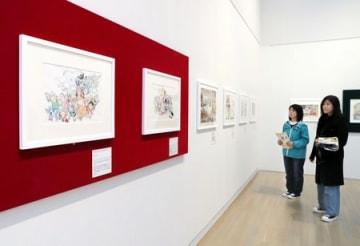 23日に開幕する「追悼水木しげる ゲゲゲの人生展」=22日、新潟市秋葉区の新潟市新津美術館