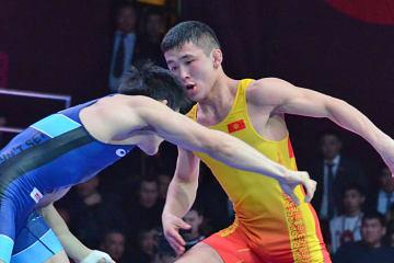 昨年の55kg級世界2位のゾラマン・シャルシェンベコ(キルギス)は60kg級へ上げて優勝=写真は2018年アジア選手権