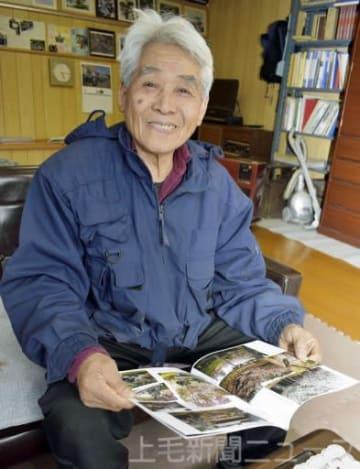 日航ジャンボ機が墜落した事故現場「御巣鷹の尾根」を管理する黒沢完一さん=22日、上野村
