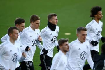 トレーニングをするドイツ代表 photo/Getty Images