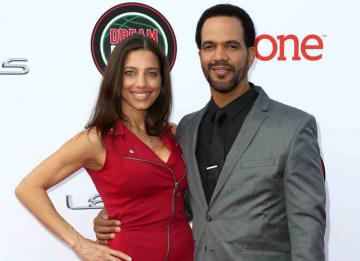 PASADENA, CA - FEBRUARY 22: Actor Kristoff St. John (R) and Dana Derrick attend the 45th NAACP Image Awards presented by TV One at Pasadena Civic Auditorium on February 22, 2014 in Pasadena, California. (Photo by Alberto E. Rodriguez/Getty...