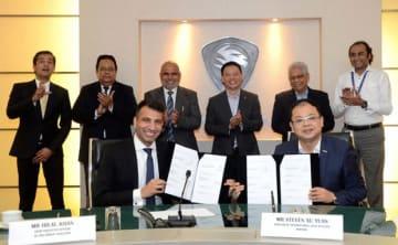 プロトンは22日、パキスタンのアルハジ・オートモーティブと同国での工場建設プロジェクトを公式発表した(プロトン提供)