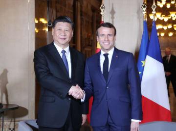 習近平主席、マクロン仏大統領と会見 新たな協力領域を模索
