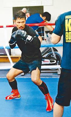 来月1日に後楽園でメイン試合 上市出身プロボクサー・酒井選手