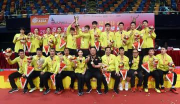 中国が優勝 バドミントン·アジア混合団体選手権