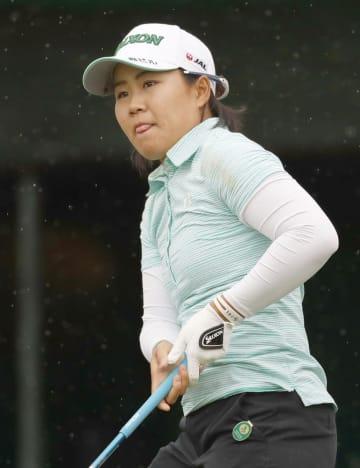 ダイキン女子ゴルフ最終日の畑岡奈紗=10日、琉球GC
