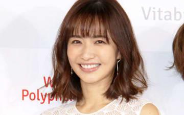 サプリメント「ホワイトポリフェノール C」の新製品発表イベントに登場した優木まおみさん