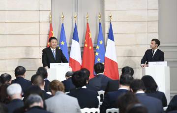 中仏共同声明を発表 国連憲章に基づく世界平和と繁栄の促進を強調