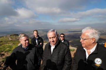 ゴラン高原 イスラエル ネタニヤフ首相 トランプ 主権 署名 承認