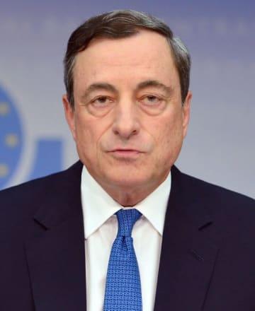 欧州中央銀行のドラギ総裁(ゲッティ=共同)