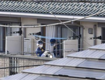 照井津久美さんが殺害されたアパート=26日、東京都杉並区