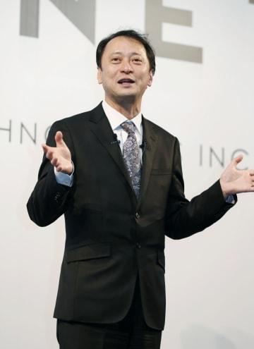 ホンダ、日野自動車との業務提携を説明するモネ・テクノロジーズの宮川潤一社長=28日午後、東京都内