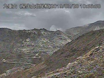 火山性地震が増加しているくじゅう連山(九重山)=28日午前10時56分、気象庁ホームページから