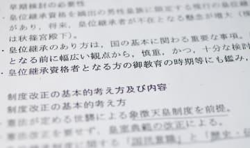 政府が女性・女系天皇を容認し、皇位継承制度の早期改正の方針をまとめた2004年5月の文書
