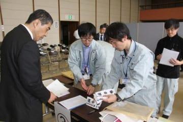 岡山市北区選管による県議選・市議選の立候補受け付けリハーサル