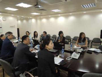 マカオと広東省珠海市の衛生当局によるはしか発生情報共有及び予防施策会議の様子=2019年3月28日(写真:SSM)