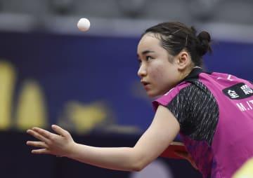 伊藤美誠が2回戦進出 卓球のカタール·オープン