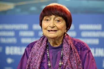 アニエス・バルダさん=2月13日、ドイツ・ベルリンの国際映画祭で(ゲッティ=共同)