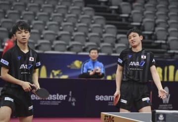 張本智和、木造勇人組が男子ダブルスで敗退 卓球カタールOP