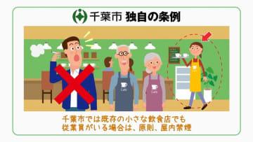 受動喫煙防止条例周知に向けて新たに制作された動画イメージ(千葉市提供)
