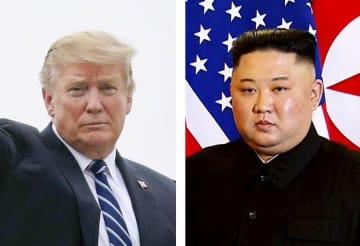 トランプ米大統領(ロイター=共同)、北朝鮮の金正恩朝鮮労働党委員長(AP=共同)
