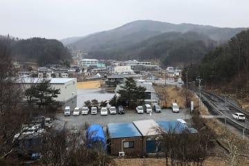 葛尾創生電力が自営線を張り巡らす福島県葛尾村の中心部