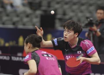 卓球混合の森薗·伊藤組が決勝進出 カタール·オープン