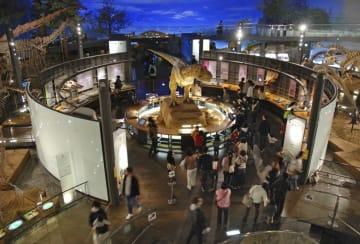 オープン以来の入館者数が1千万人を突破した福井県立恐竜博物館=31日午後、福井県勝山市(同館提供)