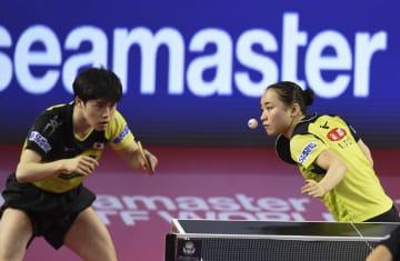 卓球混合の森薗·伊藤組が2位 カタール·オープン