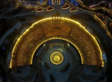 北京国際園芸博会場の夜景