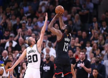 Manu Ginobili blocks James Harden in last second of Spurs' Game 5 OT win vs Rockets