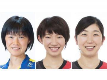 (左から)宮下遥、石井優希、荒木絵里香