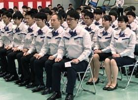 ものづくりの一員として会社を発展させることを誓ったトヨタ自動車北海道の新入社員