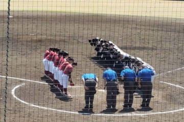 全国高等学校女子硬式野球選抜大会決勝の様子【写真:豊川遼】