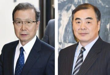 中国の程永華駐日大使、孔鉉佑外務次官